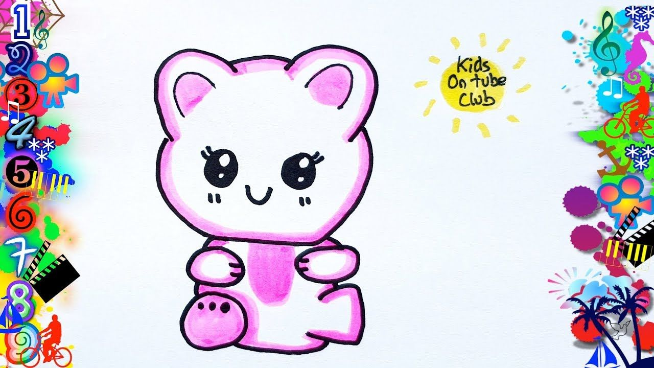 Como Dibujar Un Gato Kawaii Facil Para Niños Gatito Kawaii Como Dibujar Un Gato Dibujos Kawaii Faciles Dibujos Kawaii