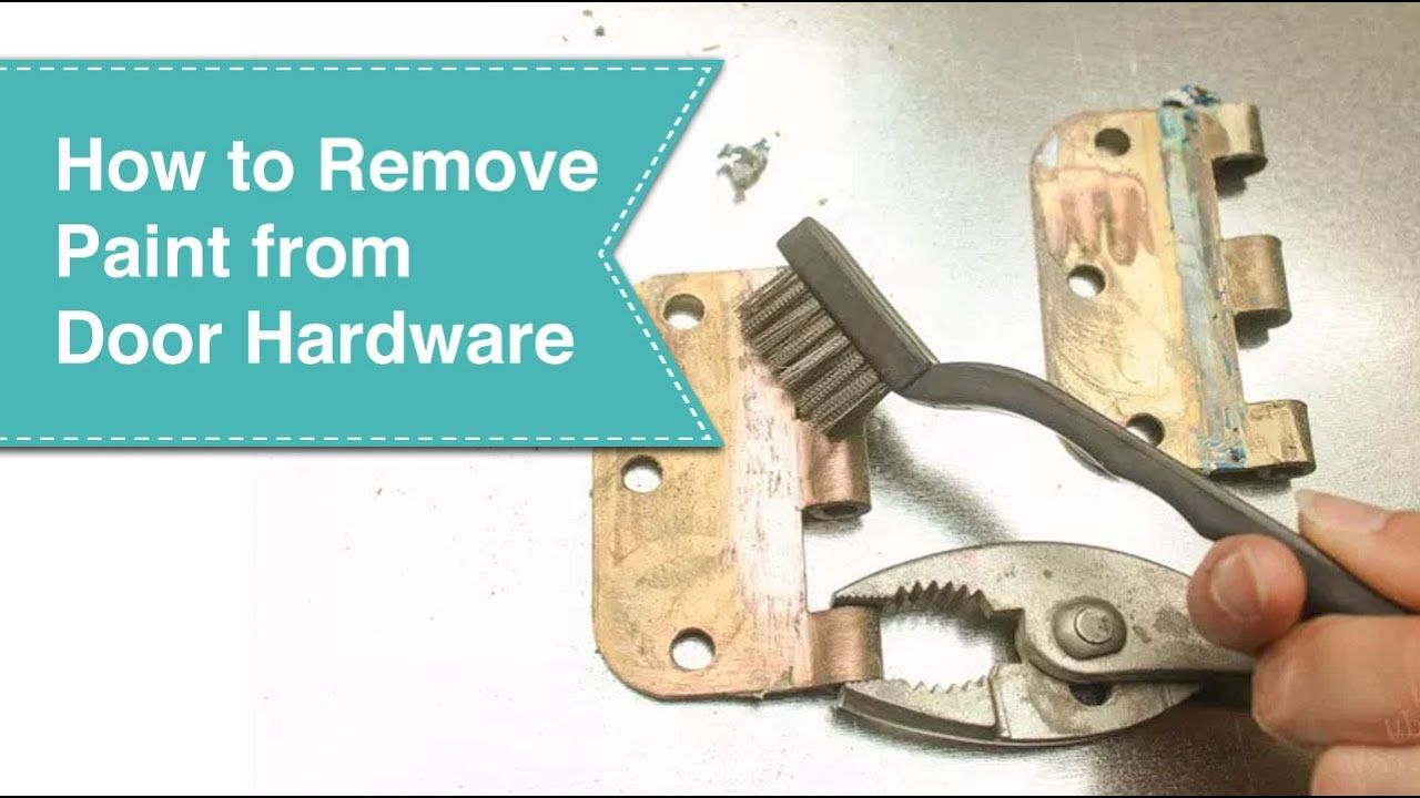 How To Remove Paint From Metal Hinges Without Removing Your Door Youtube Paint Remover Remove Paint From Metal Stripping Paint