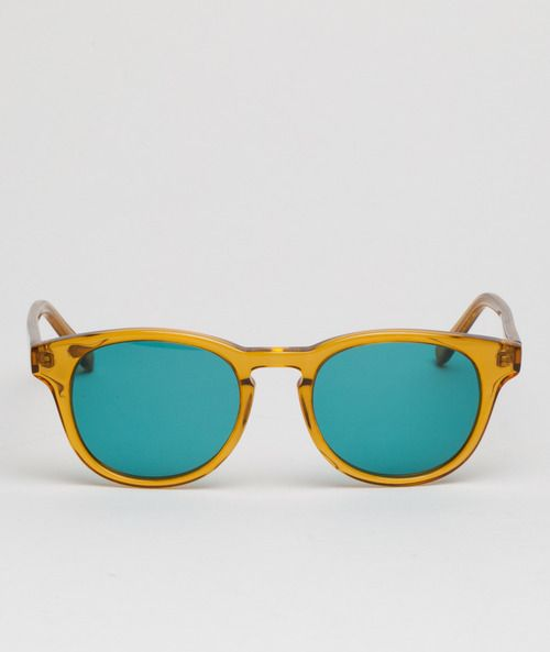 8e2b246b2a4 A transparent yellow  Timeless  frame with blue tint lenses. A true Summer  time delight.