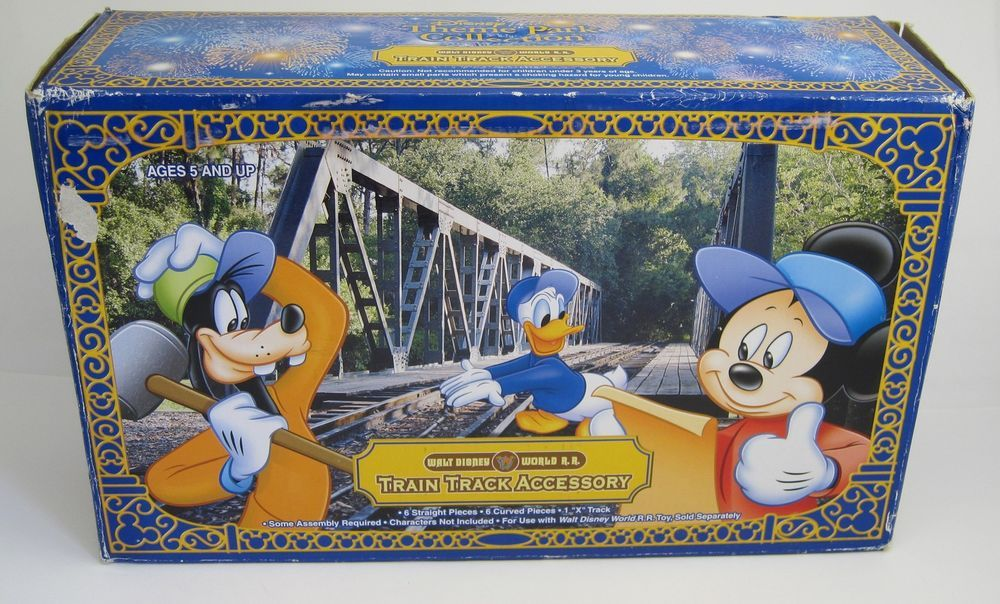 Walt Disney World Resorts Railroad Train Track Accessory 13 Curved Straight C...