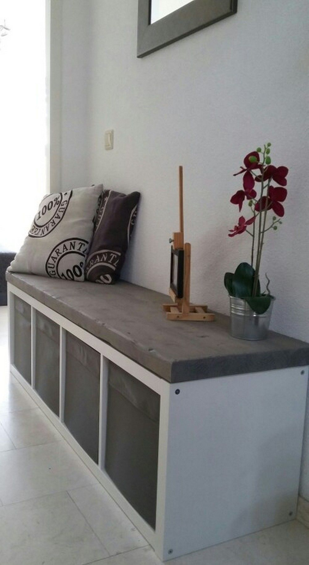 Hallway storage and seating  Pin by Corey Marie on Organizing the home in   Pinterest  Ikea