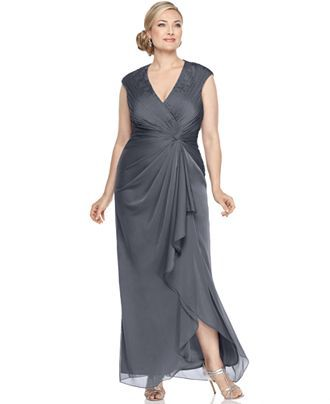 Adrianna Papell Plus Size Dress Bridesmaid 15120 Plus Size
