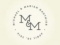 M&M Wedding Logo