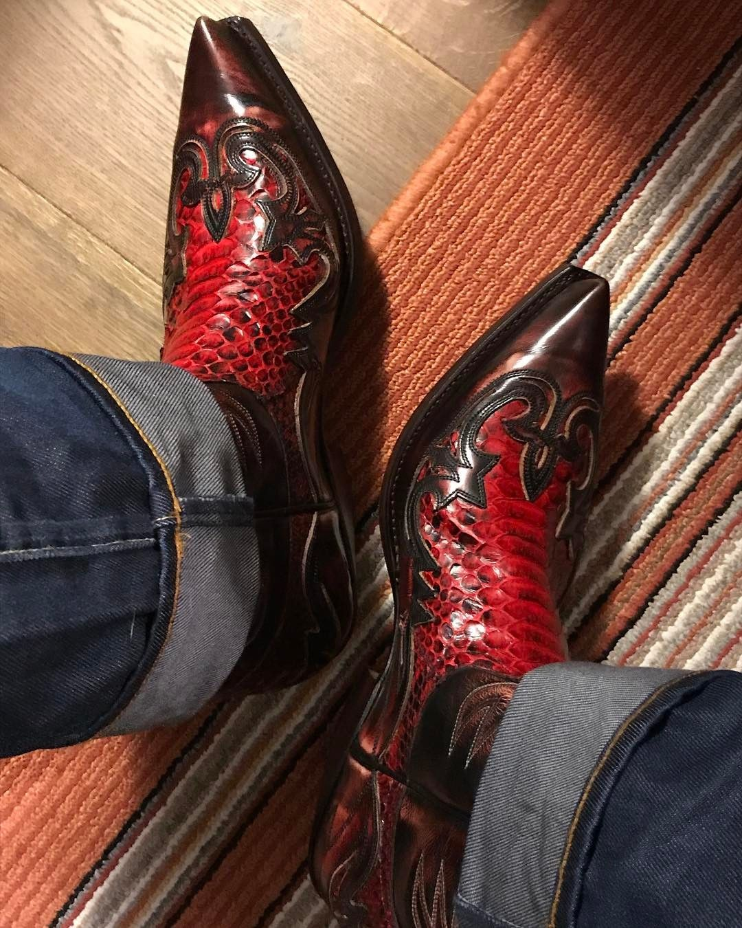 415d114b77e Sendra Python red also 46/47 | Cowboy boots in 2019 | Custom cowboy ...