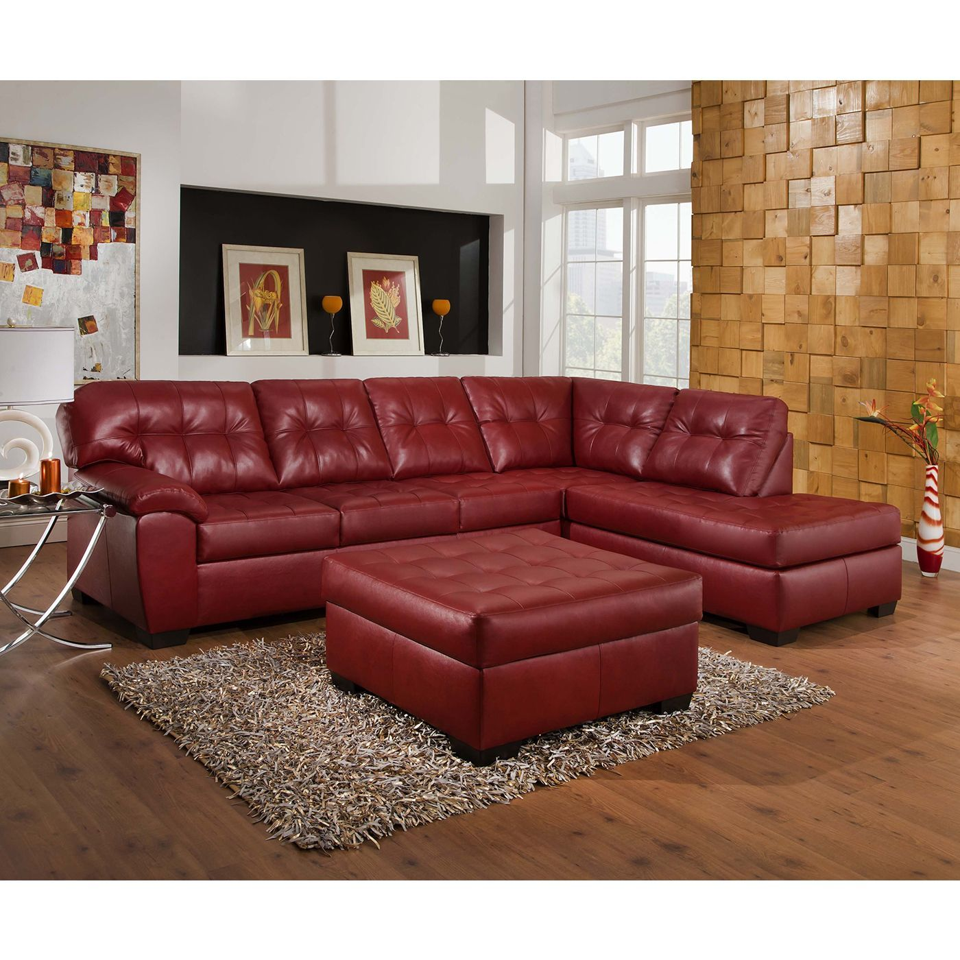 Overstock Com Online Shopping Bedding Furniture Electronics Jewelry Clothing More Red Sectional Sofa Red Leather Sofa Sectional Sectional Sofa With Chaise