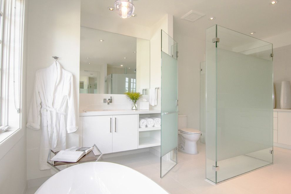 Frosted Glass Interior Doors Bathroom Contemporary With Floating