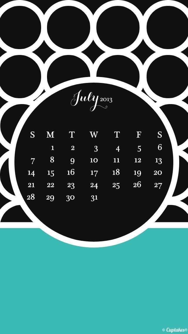 July calendar wallpaper