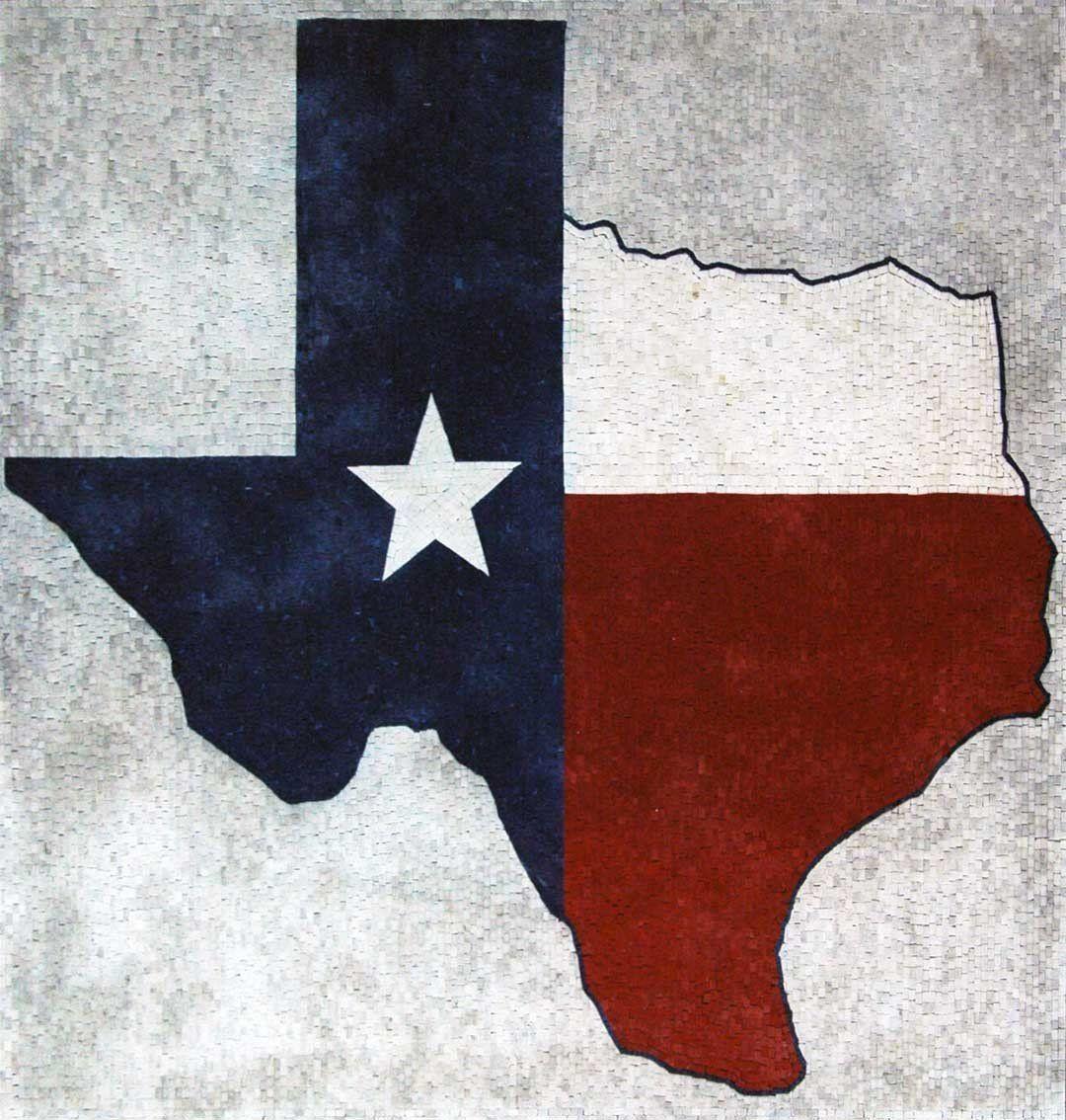 Texas Map Marble Mosaic Art In 2020 Mosaic Art Texas Art Projects Texas Map Art