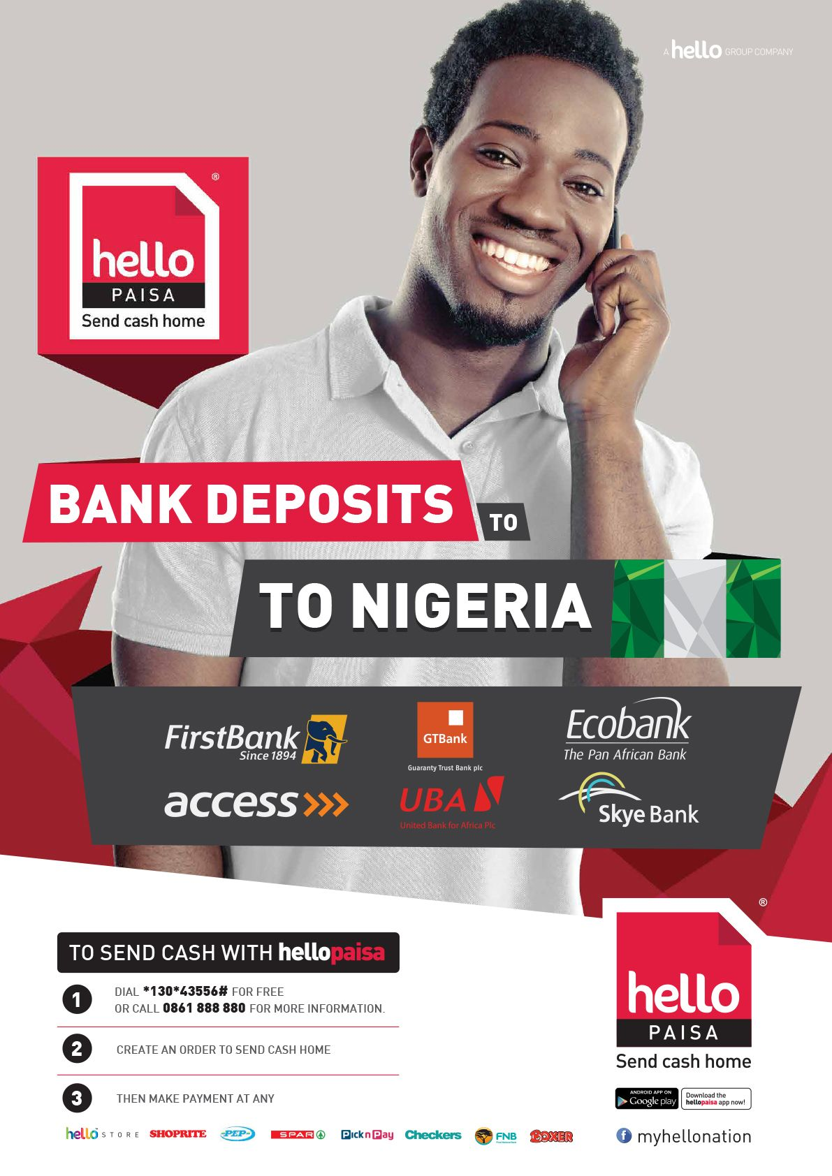 Send Money To Nigeria With Hello Paisa Www Hellopaisa Co Za Design By Group Marketing