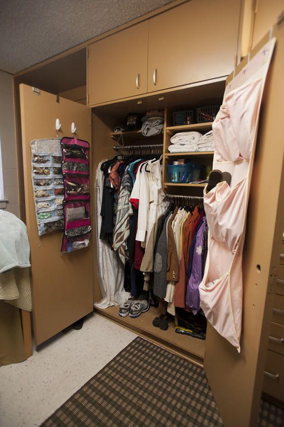 Dorm Room Closet: Tutwiler Dorm Room Closet. University Of Alabama