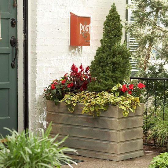 front yard mailbox gardens landscaping