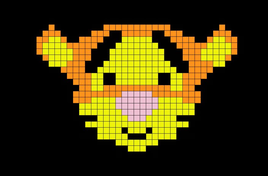 Winnie The Pooh Tigger Pixel Art Pixel Art Tête De Mort
