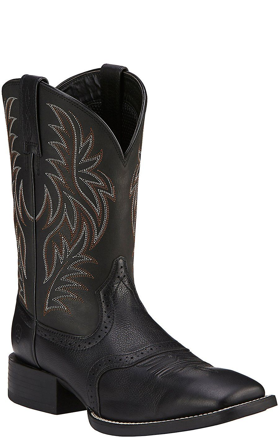 Ariat Sport Outfitter Men's Black Double Welt Square Toe Western Boots | Cavender's
