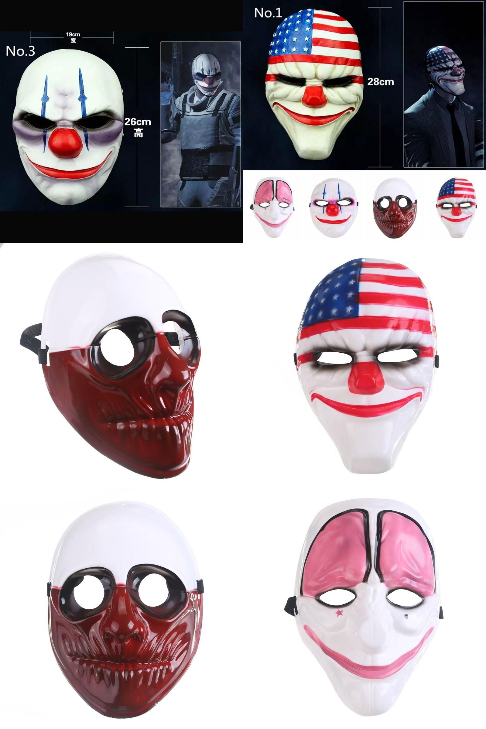 Visit to Buy] Halloween Party Mask Mask PVC Scary Clown Mask ...