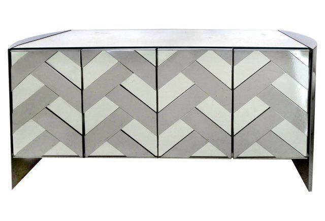 Chevron Credenza By Ello Credenza Master Bedroom And Storage - Ello bedroom furniture