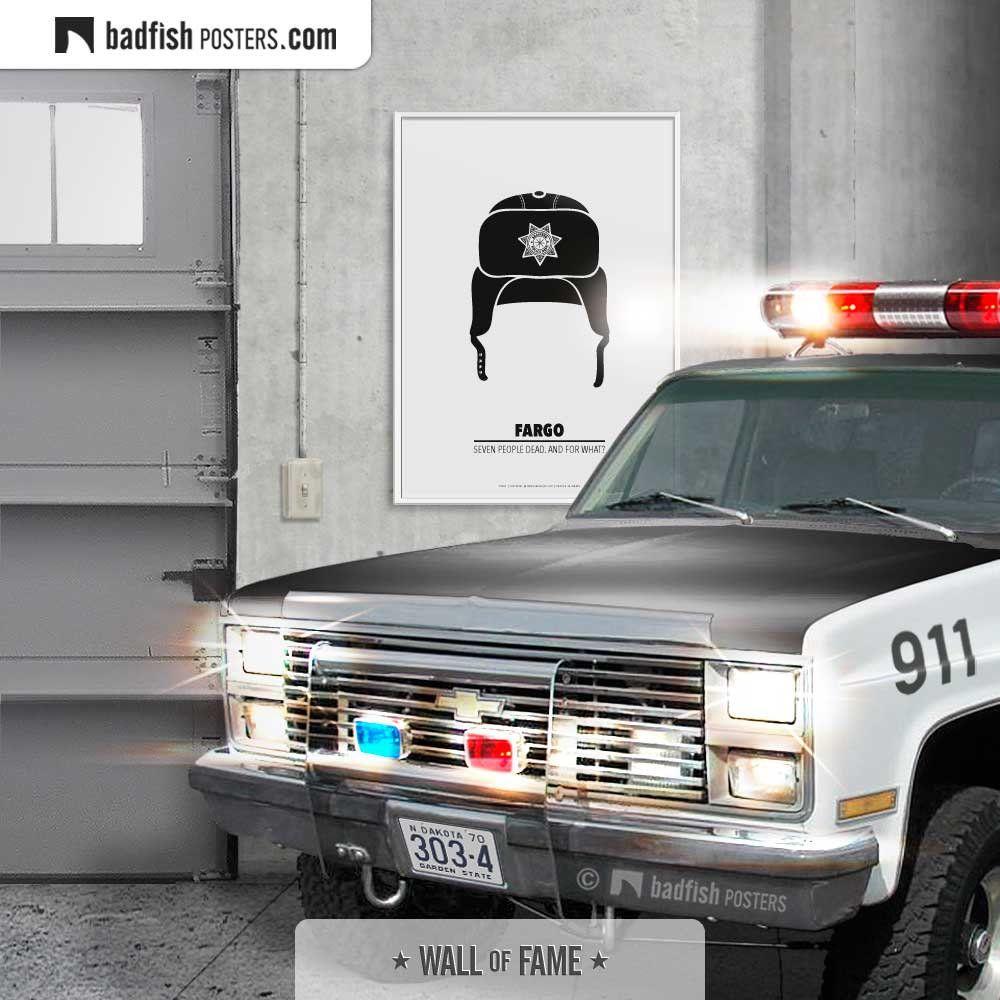 Fargo Print, Alternative Movie Poster, Police Hat, Police