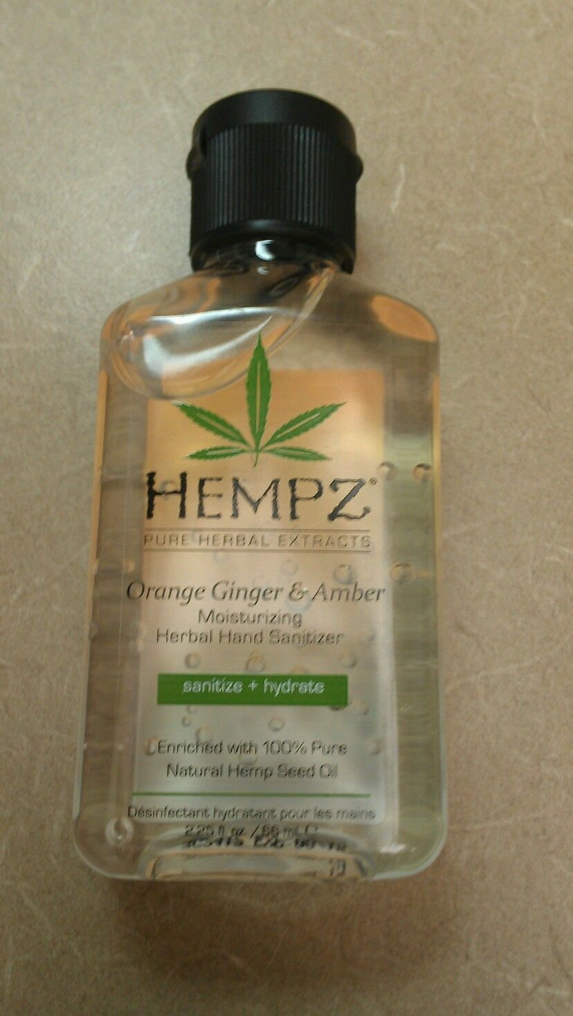 Hempz Orange Ginger Amber Moisturizing Herbal Hand Sanitizer 2