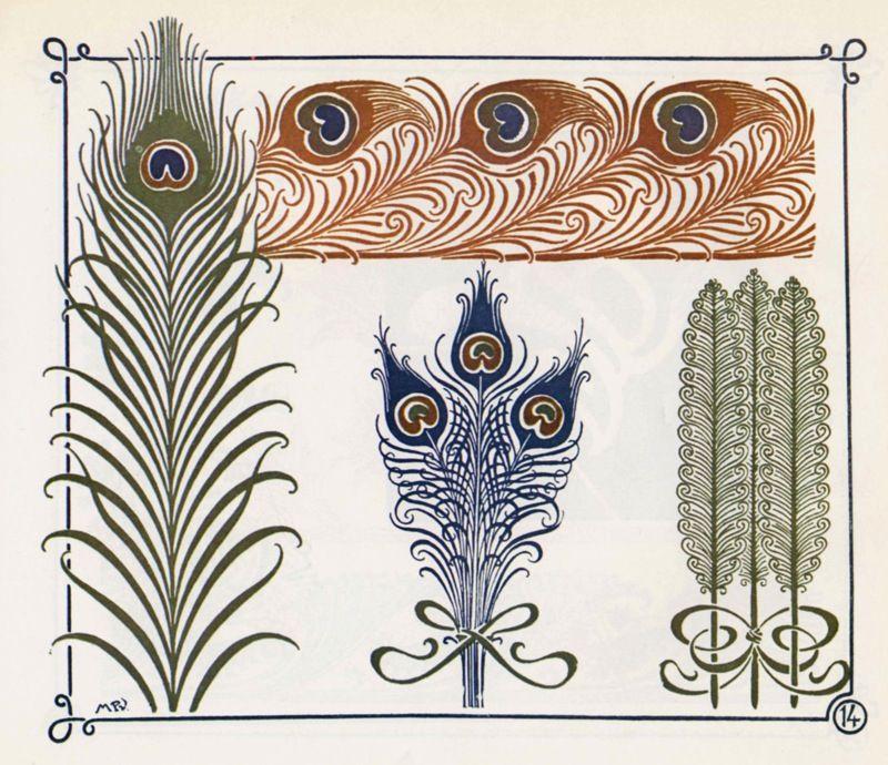 Jugendstil ornamente um 1910 jugendstil jugendstil for Ornamente jugendstil
