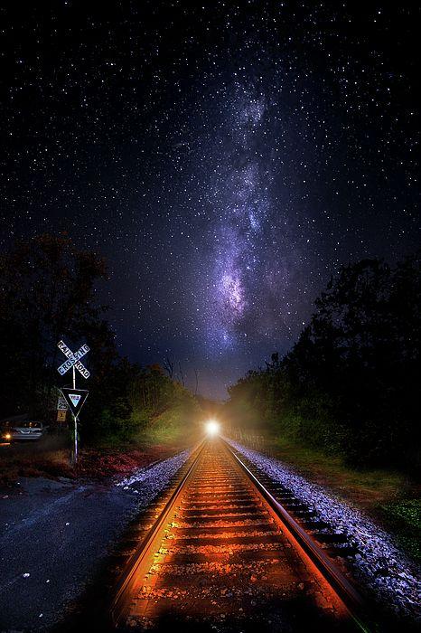 The Midnight Milky Way Express Night Landscape Milky Way Landscape