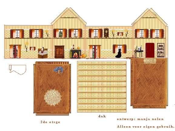 Recortables de casitas para imprimir imagui papel for Cocinas integrales armables