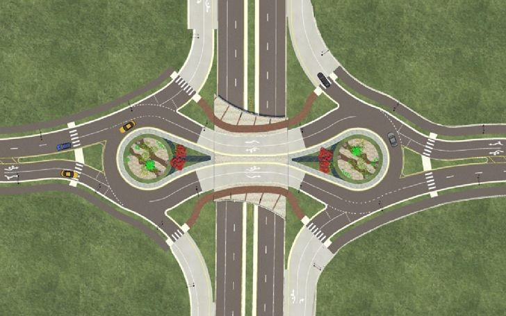 Keystone Parkway Is The Greenest Highway Intersection In The Us City Skylines Game City Layout City Design