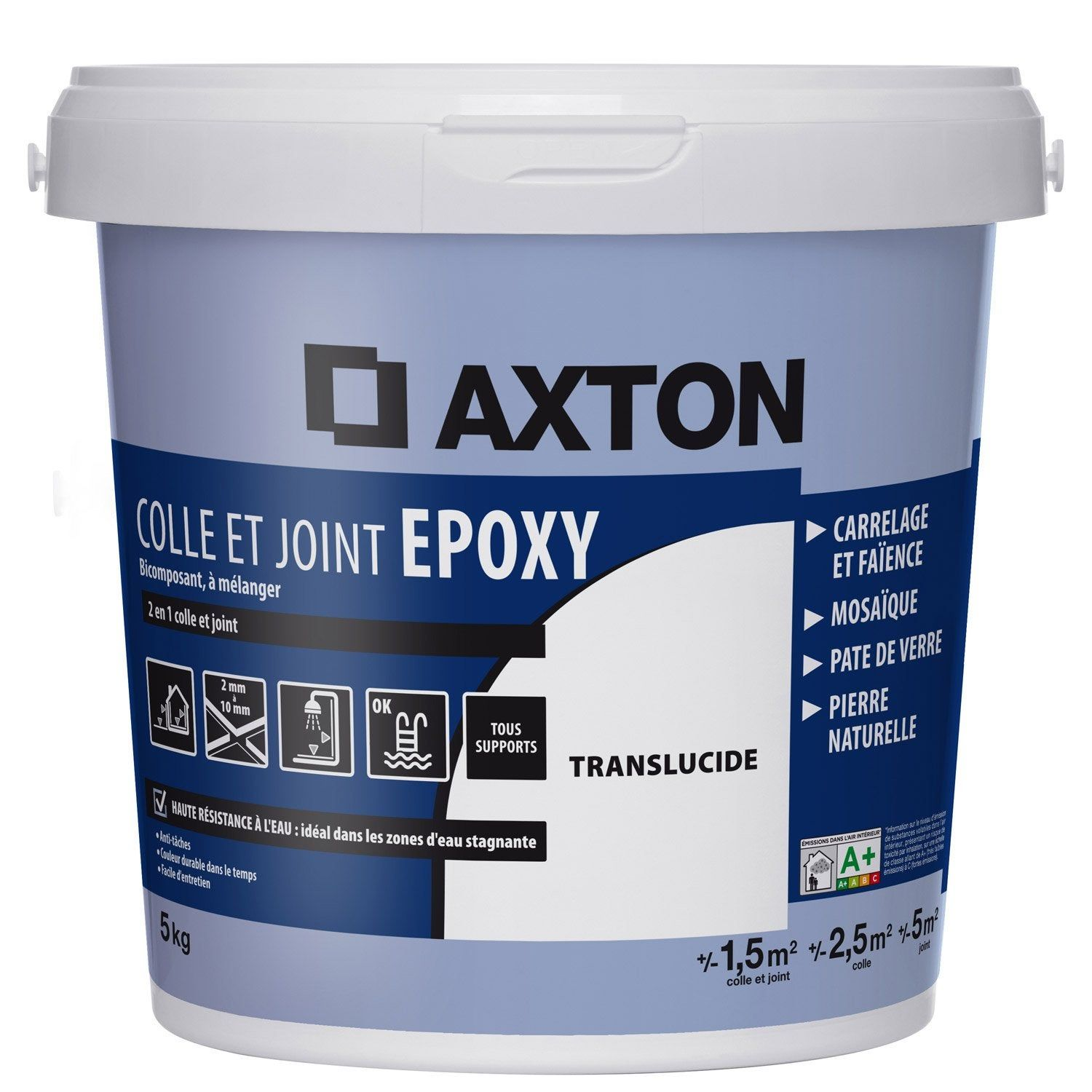 Colle Et Joint Epoxy Translucide Axton 5m Epoxy Gris Clair Et Collant