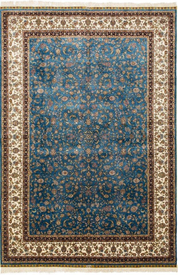 Collectible Silk Carpet 100 Silk Rug Hand Knotted Natural Dyed Handmade Oriental Carpet Old Persian Rugs Home Deco Simple Carpets Silver Carpet Silk Rug