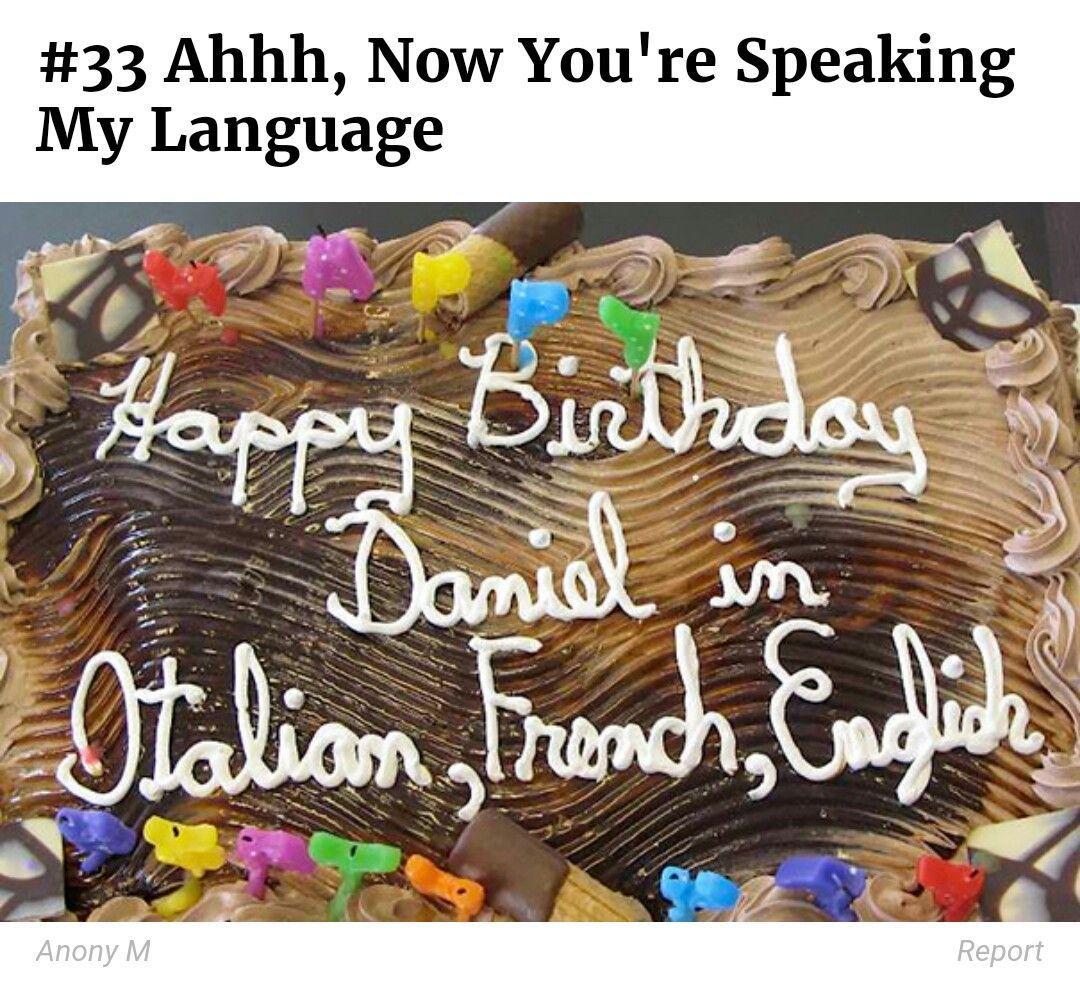 Auf Italienisch Franzosisch Und Englisch Alles Gute Geburtstag