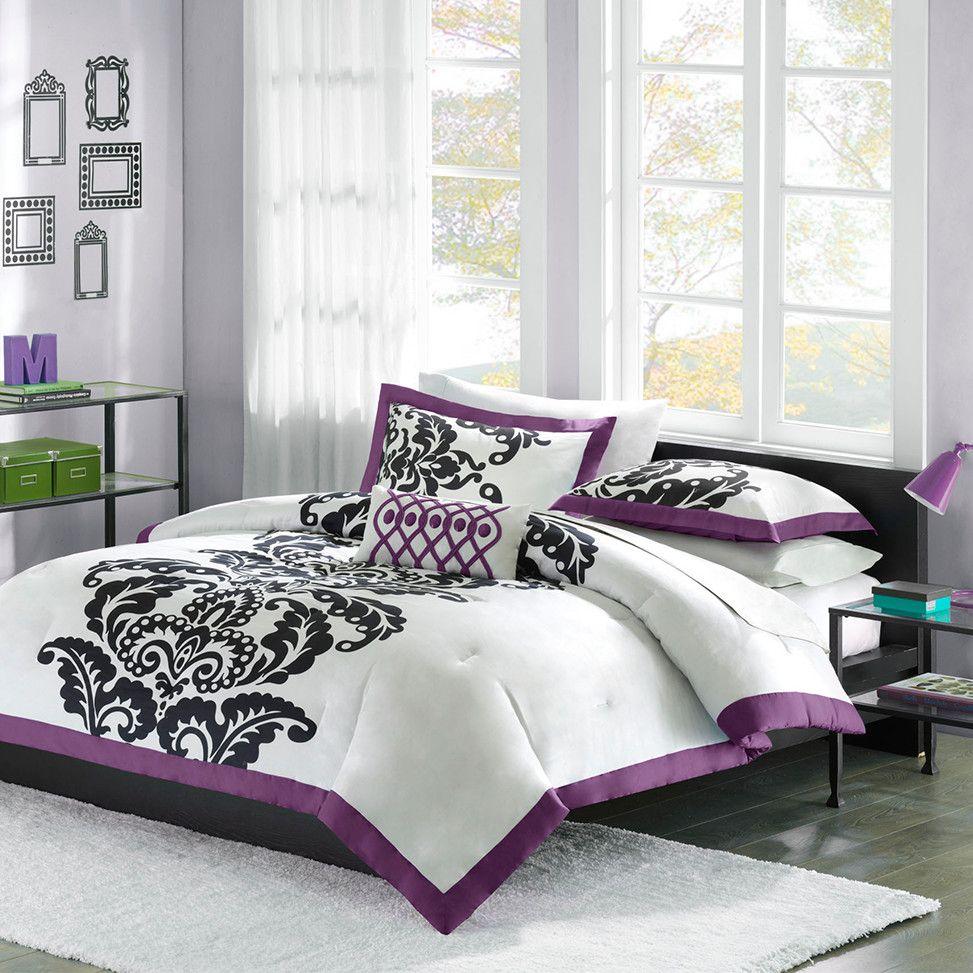 Teal Bedroom Color Scheme with Black White Grey - Decor ...