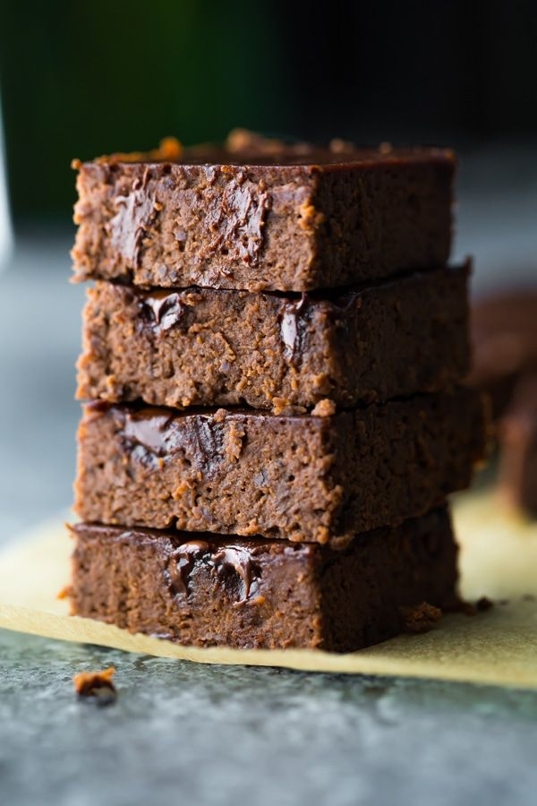 Fudgy Black Bean Brownies Fudgy black bean brownies that satisfy your sweet tooth while keeping things healthier: no refined sugar, grain-free, and 126 calories per brownie!