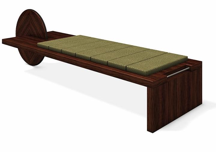 Japanese asian sleek modern design bench wooden architecture