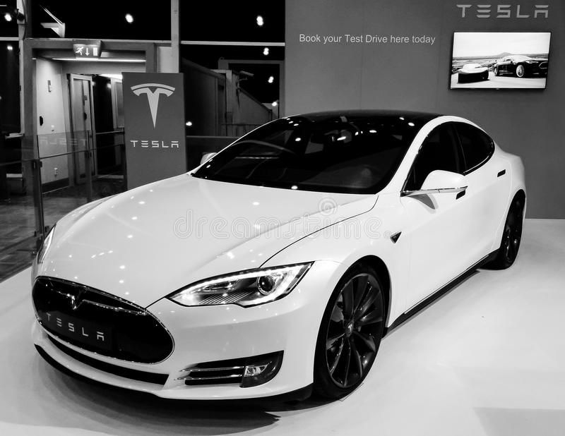 Tesla Model S premium electric car. Tesla Model S electric car in black and whit , #affiliate, #electric, #car, #premium, #Tesla, #Model #ad