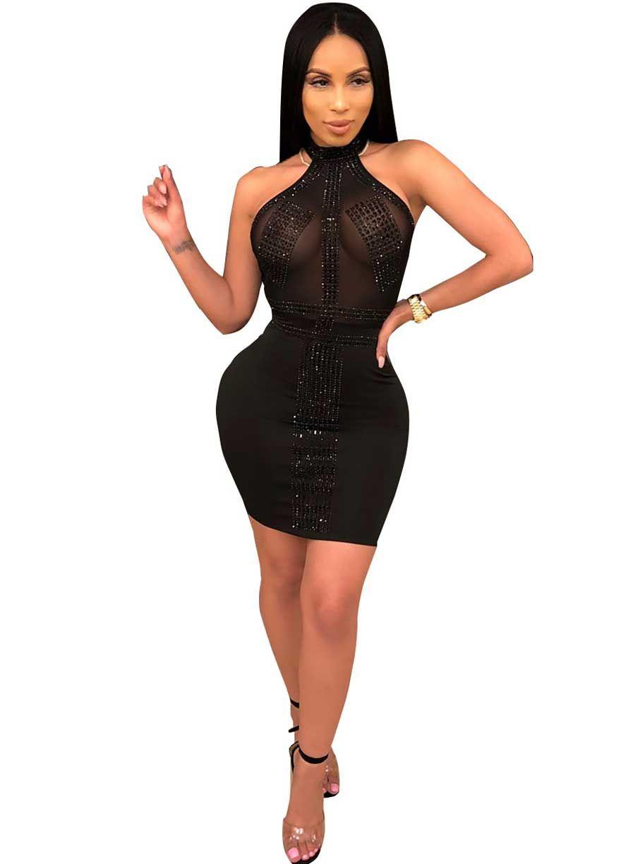 Tessa crystal dressrhinestonesclub dressclubwear clothingsexy