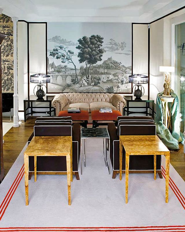 English Country Style House Interiors The sparkling Art Deco