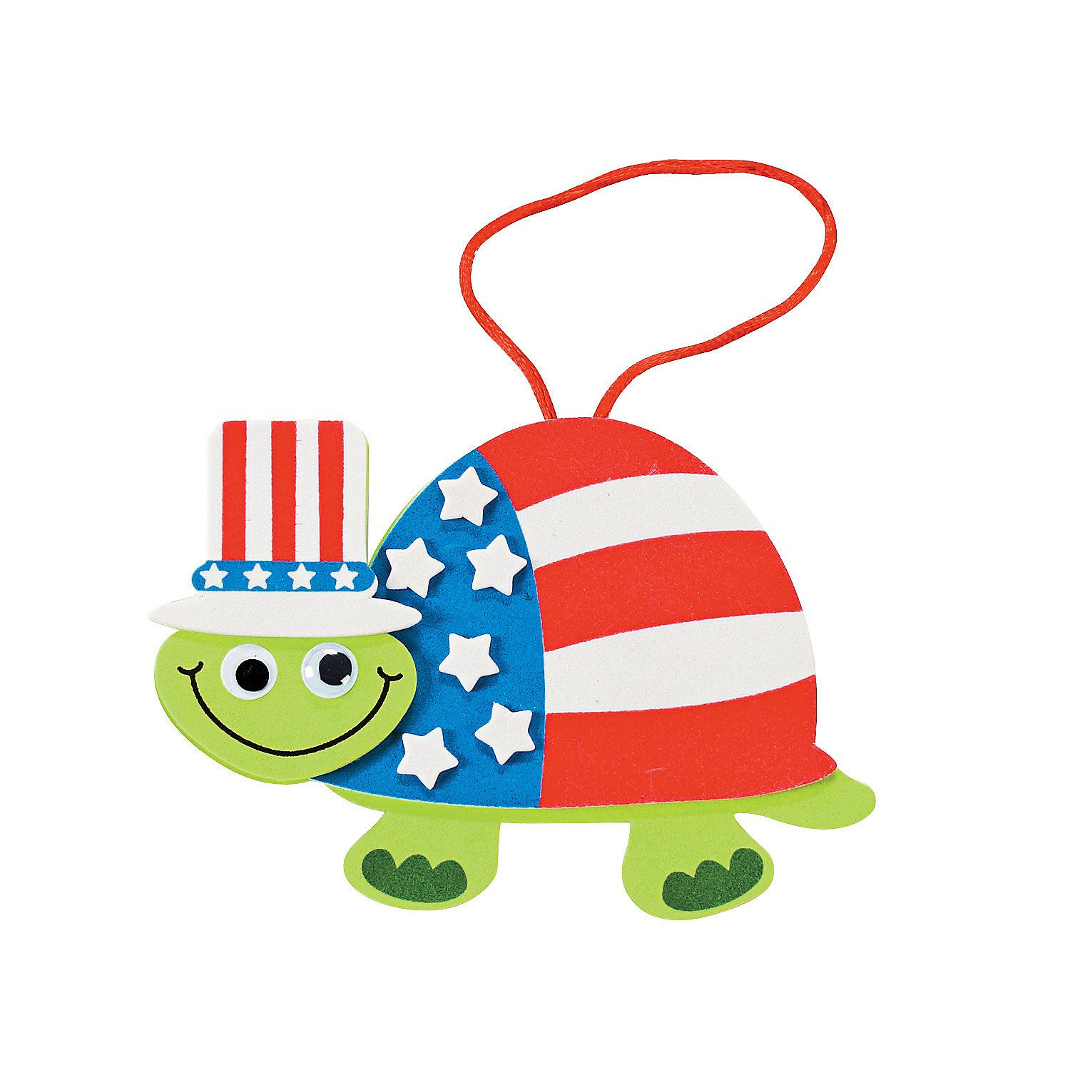 Patriotic Turtle Ornament Craft Kit  Orientaltradingcom