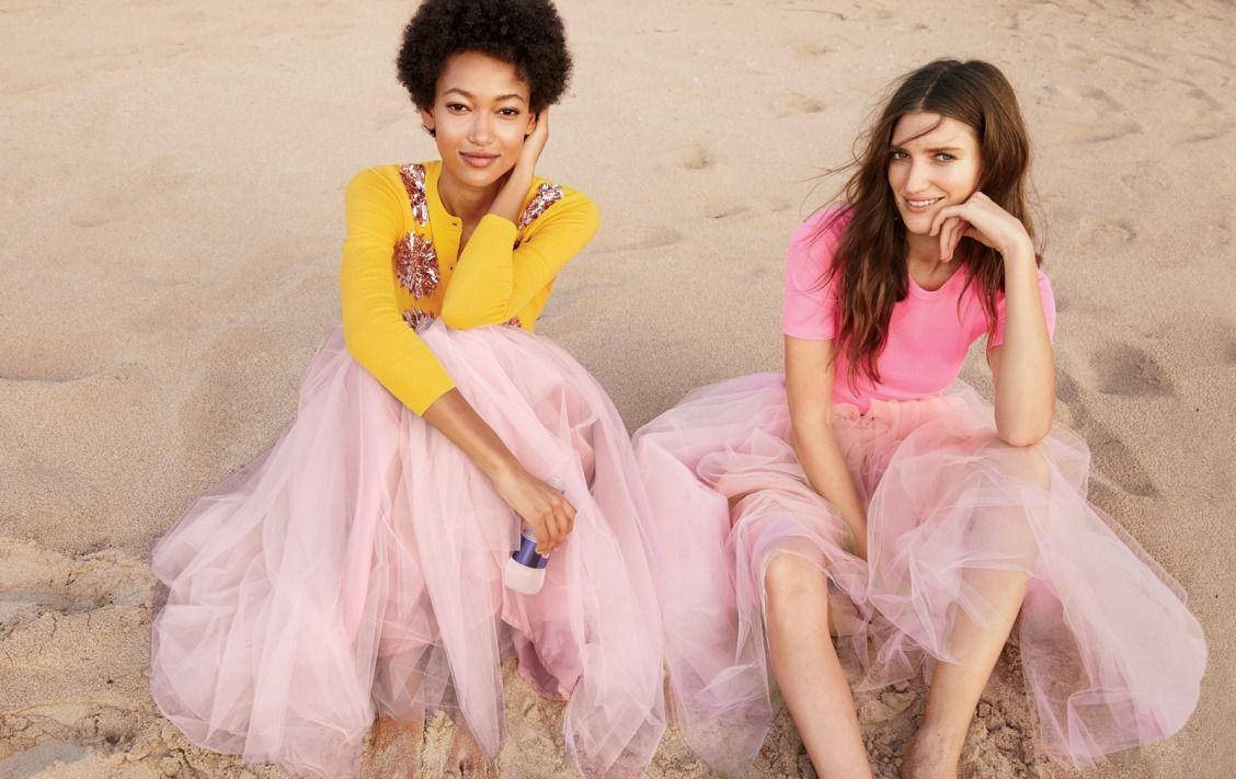 J.Crew women\'s tulle ball skirt, embellished cotton Jackie cardigan ...