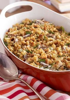Make Ahead Chicken and Green Bean Casserole – This casserole combines just about everything we like in one dish—tender chicken, fresh green beans, creamy mushrooms and make-ahead convenience!