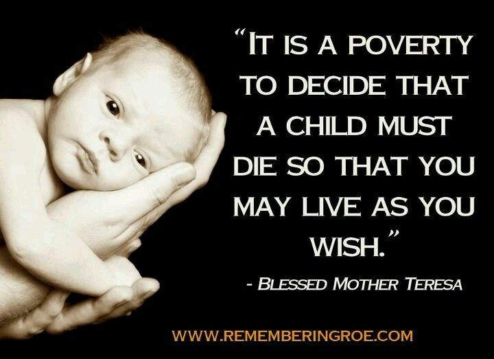 Pro Life Quotes Inspiration Mother Teresa ProLife Quotes Mother Teresa CF SAINT Mother