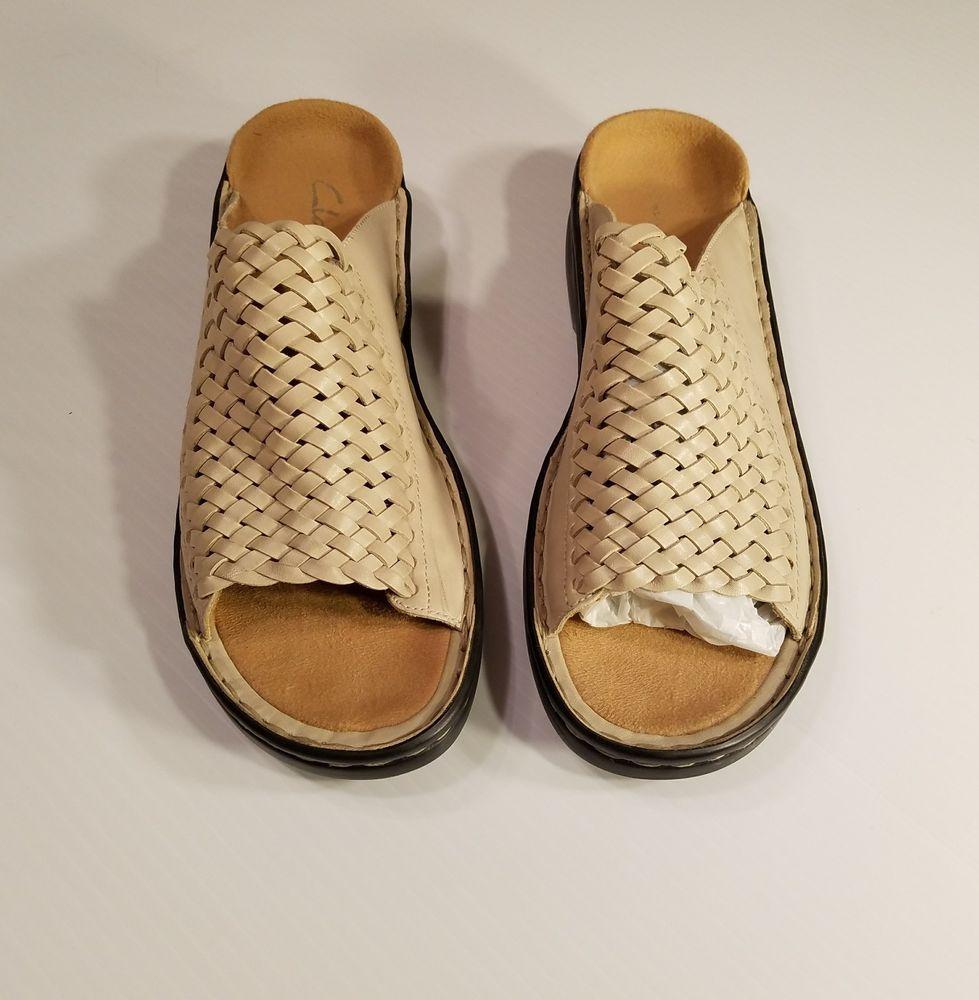 Clarks Womens Bone Clogs Mules Open Toe