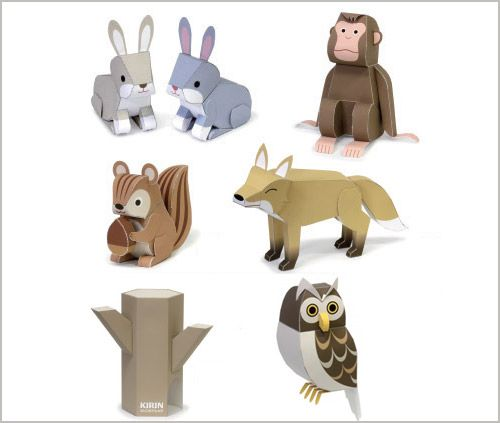 image relating to Free Printable Paper Crafts named No cost Printables - Paper Forest Pets Shall hire it for
