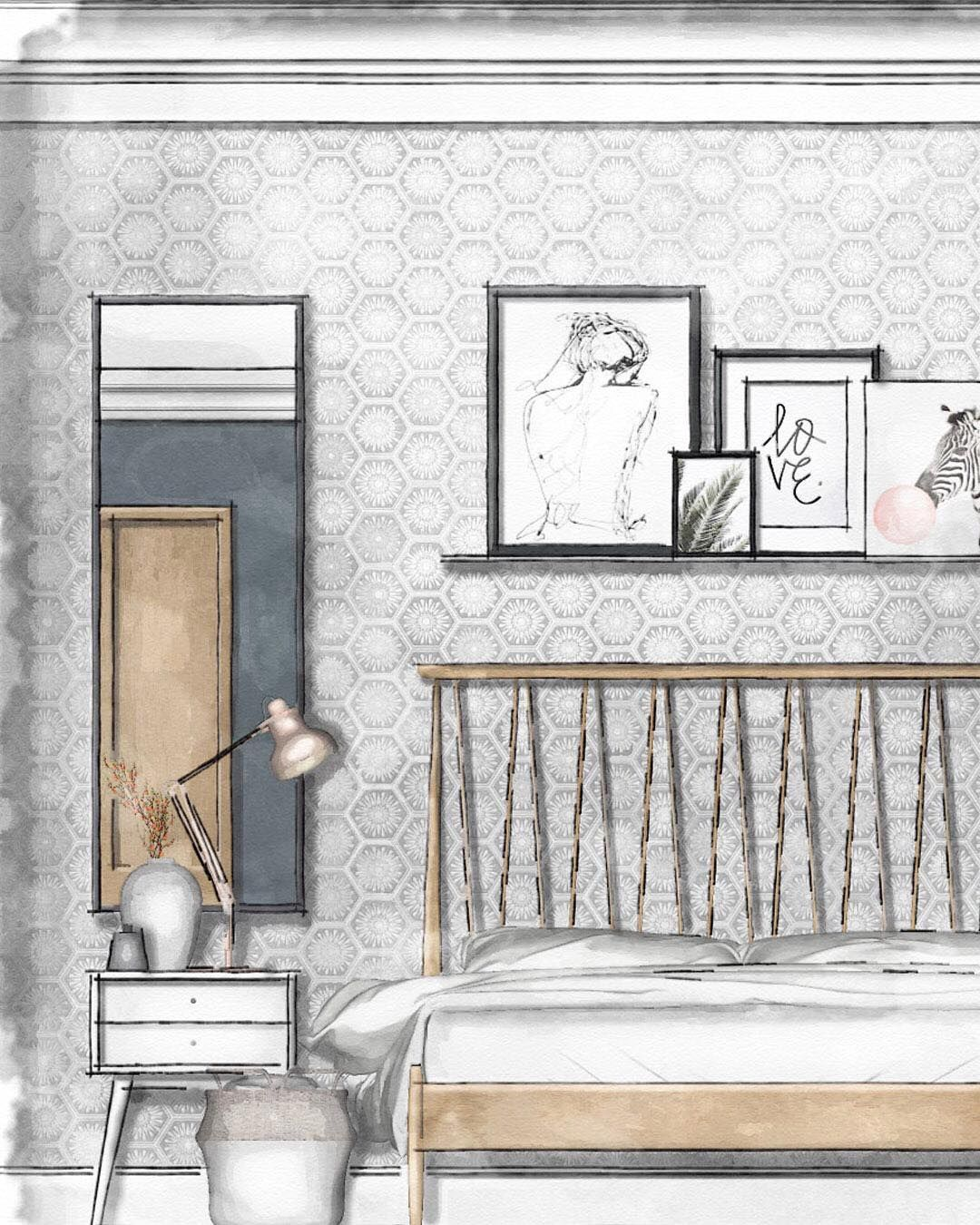 Living Room Sketch: 이미지: 실내