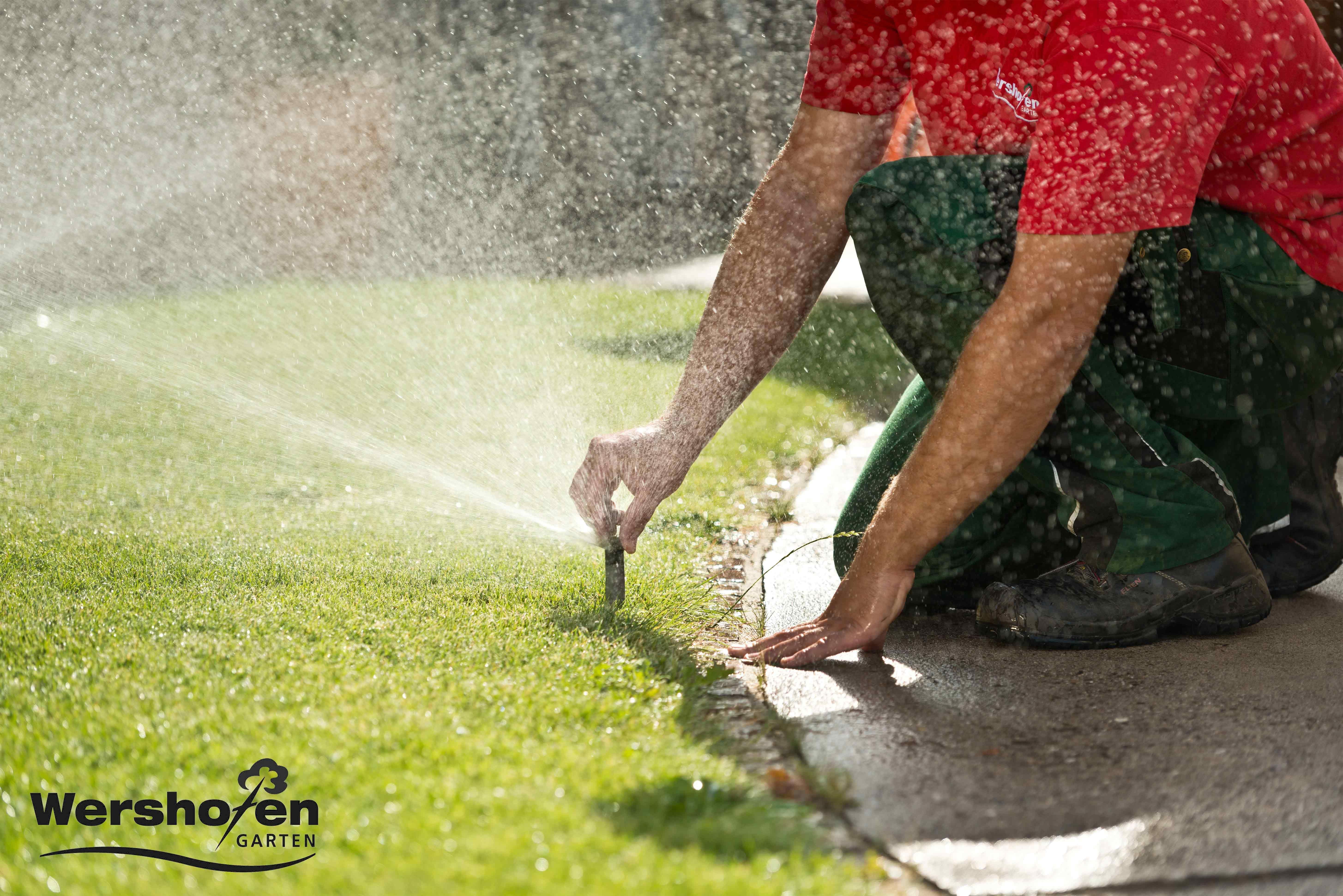 Wershofen Garten Details automatische Gartenbewässerung