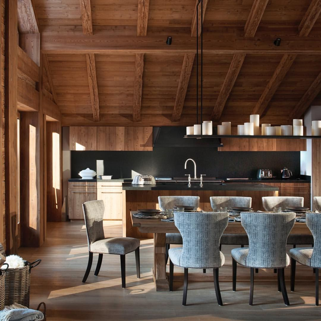 Kitchen Series: An Open Plan Chalet Kitchen Allows The Whole Family To Stay  Together Throughout Breakfast And Dinner Time. With The Light Streaming In  ...
