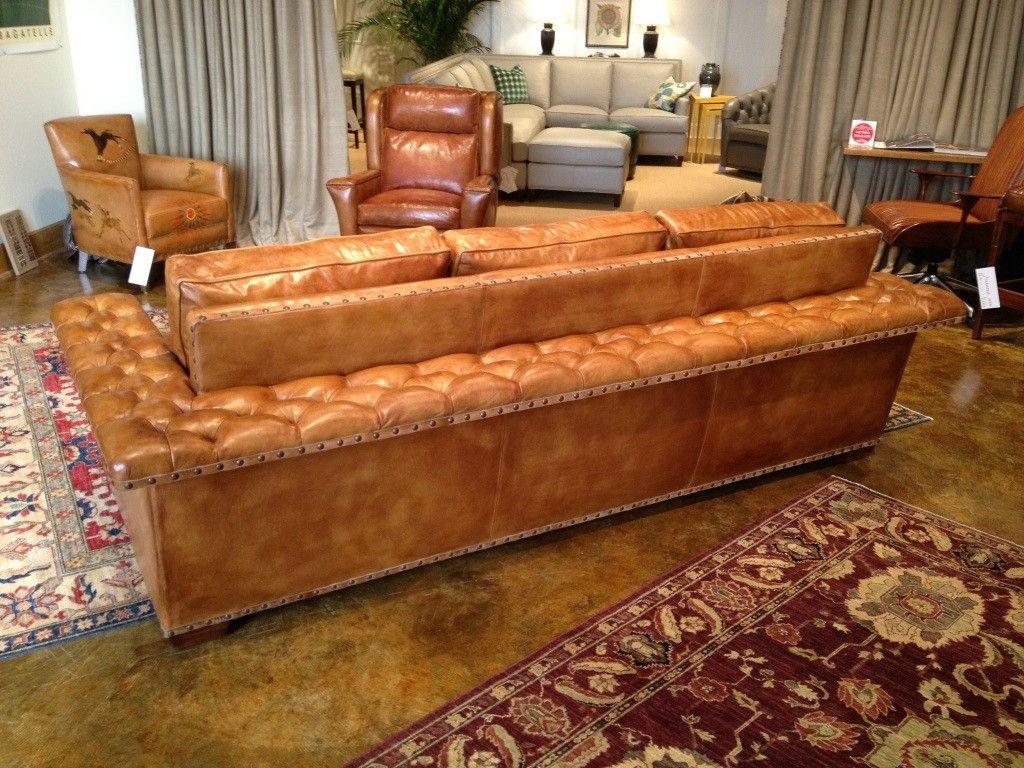 Hancock U0026 Moore Cameo Caramel Camel Burnished Sofa