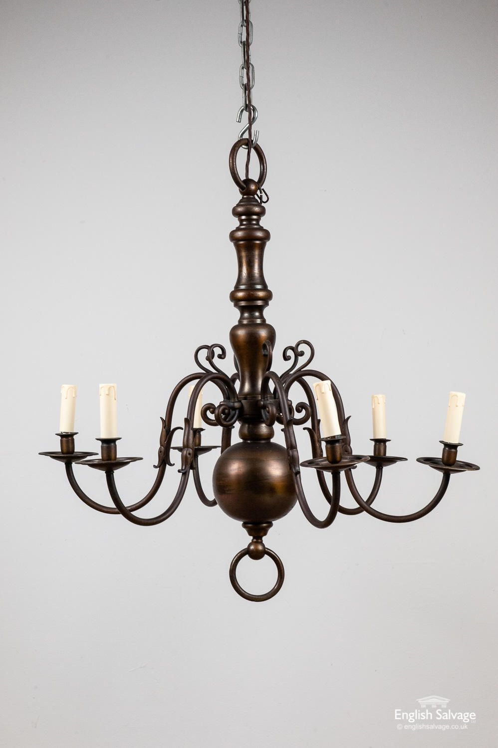 Flemish Style Six Arm Chandelier Light Lighting Rare And