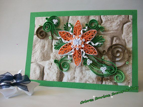 Birthday Card Quilling Card Quilled Birthday Card Paper Quilling