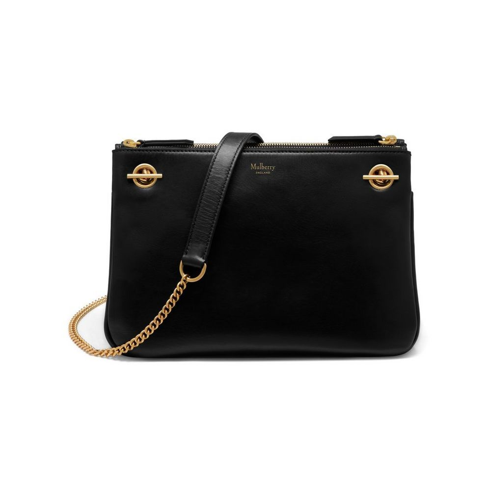New Arrival 2017 Mulberry Handbags Collection Outlet Uk Winsley Black Smooth Calf