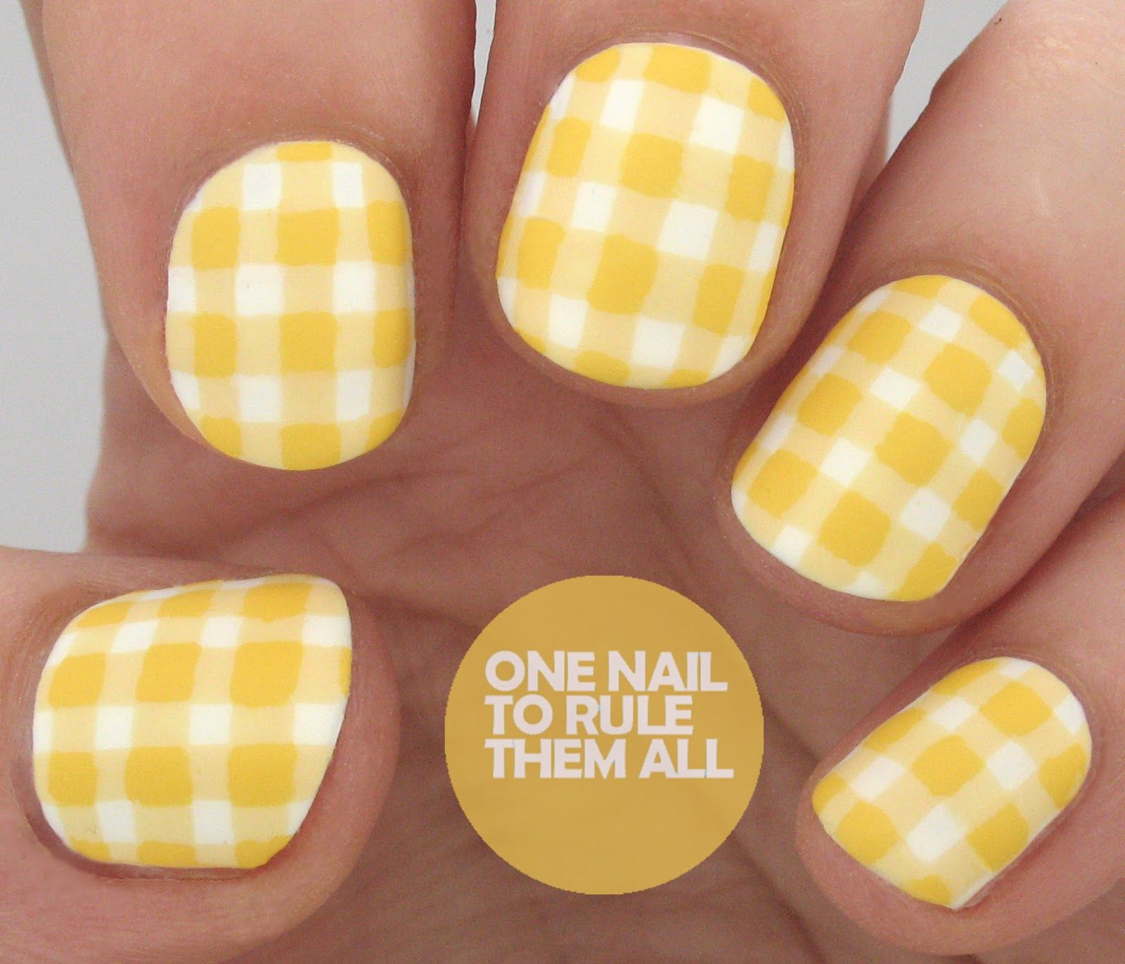 Gingham man at the helm book inspired nail art review one nail