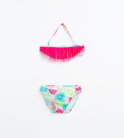 8249746d3 Bikini estampado piñas-BAÑADORES Y BIKINIS-NIÑA | 4-14 años-NIÑOS | ZARA  España