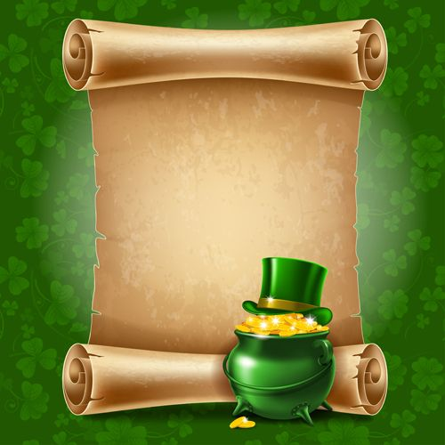 green saint patrick day background vector 04 | flover art, Powerpoint templates